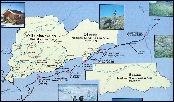 steese elmira chatanika river highway map ny